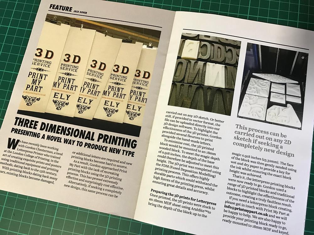 Small Printer Magazine Article