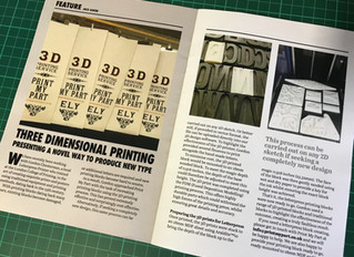 In The Press: Small Printer Magazine. 3D Printing Letterpress Blocks