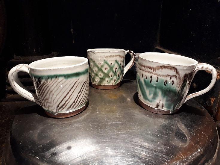 Green kufic mugs