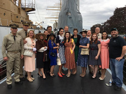 Silent Service Short Film fellow cast members on the USS Becuna Philly
