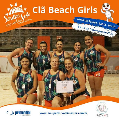 Time Clã Beach Girls 2020