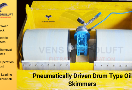 Vens' Pneumatically Operated Drum type Oil skimmer enters in India's largest Oil and Gas Industry