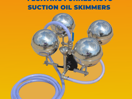FLoating funnel/weir AUtoSuction oil skimmers (FLAUS)