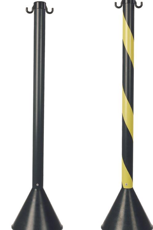 Pedestal amarelo e preto