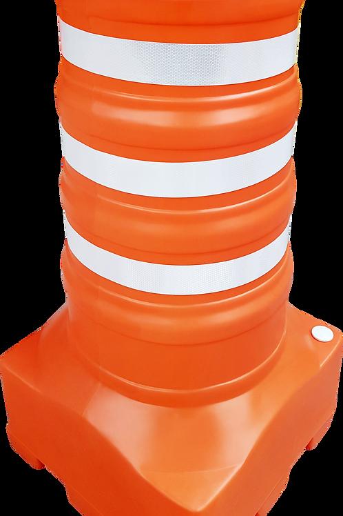 Cone sinalizador balizador laranja e branco
