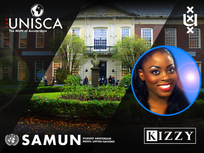 Kizzy at the UNISCA/ SAMUN event