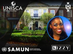 Kizzy at the UNISCA/ SAMUN event