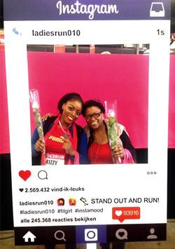 Kizzy joins LadiesRun & Pink Ribbon