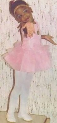 Little Kizzy as a ballerina