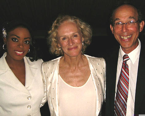 Kizzy with Glenn Close and Bo Winiker