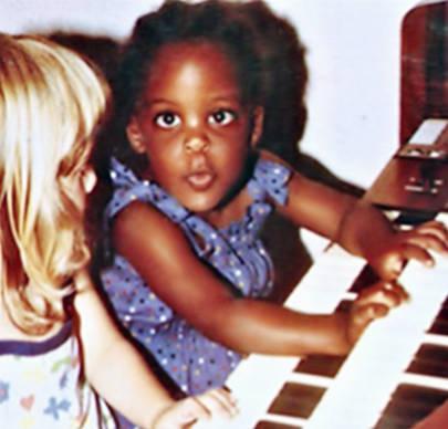 Little Kizzy on the organ