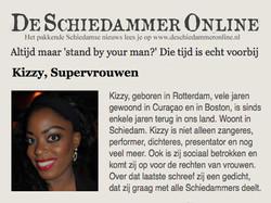 Kizzy featured in De Schiedammer