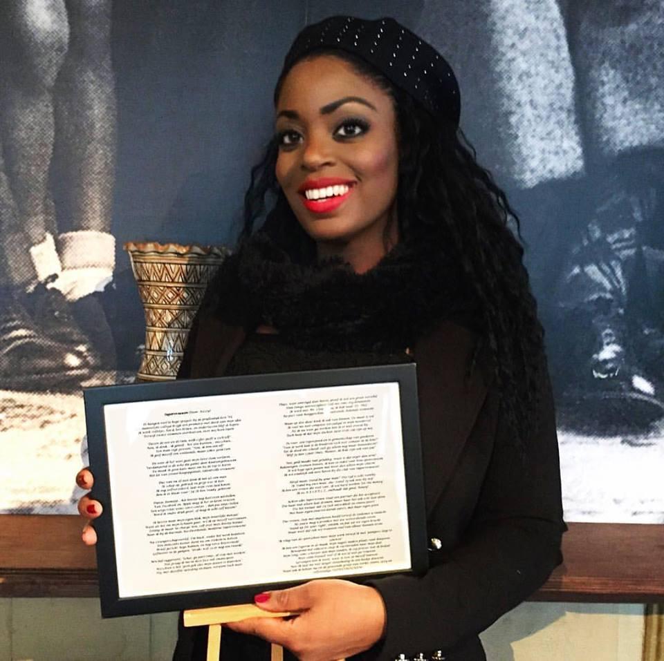 Kizzy's poem 'Supervrouwen' honored