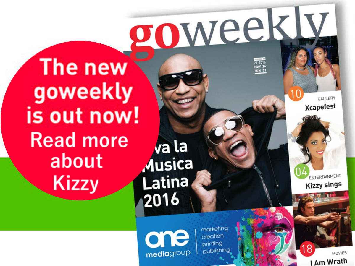 Kizzy on the cover of GoWeekly
