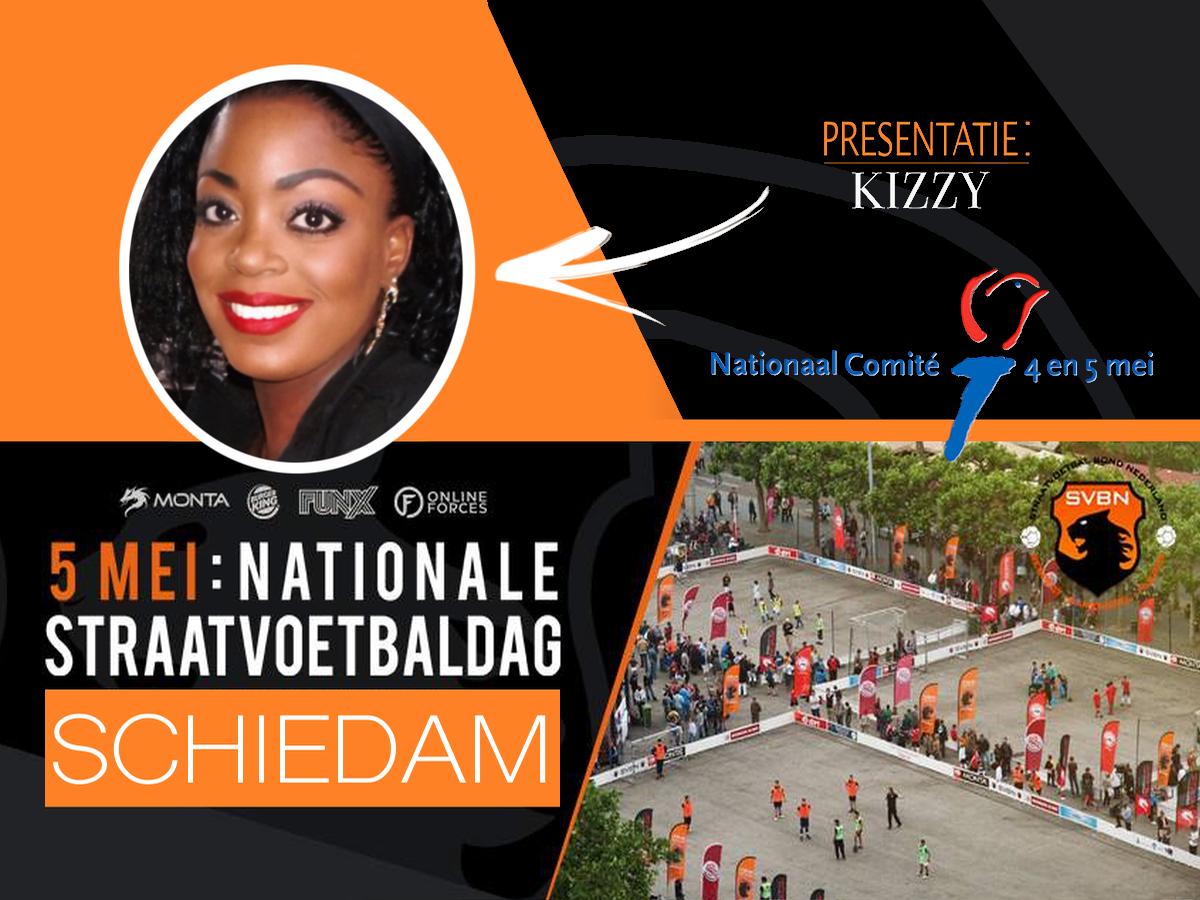 Kizzy at 'Nationale Straat Voetbal'