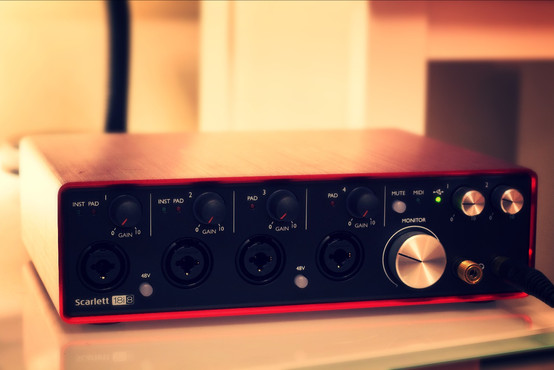 Out-of-focus Focusrite