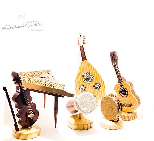 Mini Musical Instruments  آلات موسيقية خشبية صغيره جداً