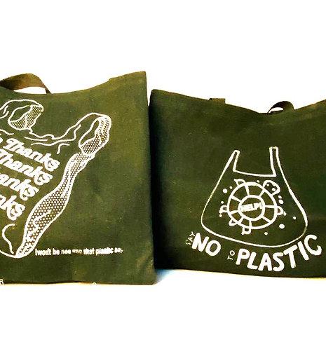 كن صديقاً للبيئة وتسوق في كيس قماشي واهدي اخر للمحتاجين مع أدوات نظافة شخصية