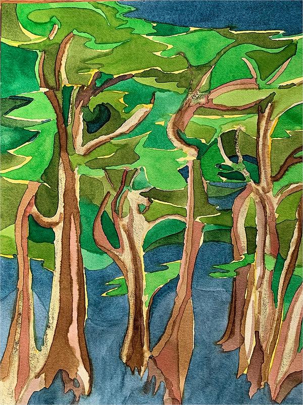 Rosen, Gerald - Cypress Trees.JPG