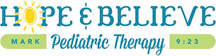 Hope & Believe Pediatric Therapy Logo NE