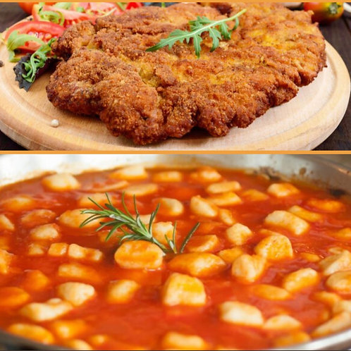 Filet Mignon Milanese w/ Gnocchi Tomato Basil