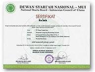 Certificat indoninsien  Syariah.jpg