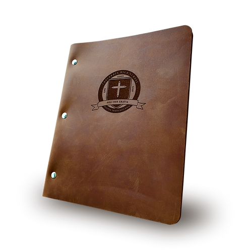 Custom CHS Logo  - Slim Cut - Refillable Leather Binder