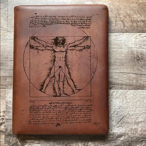 Da Vinci Vitruvian Executive Cut - Refillable Leather Folio