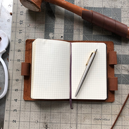 Imperfect Mini Cut - Murdy No. 2 Refillable Leather Journal