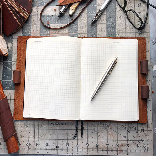 Imperfect Metric Cut - Murdy No. 2 Refillable Leather Journal