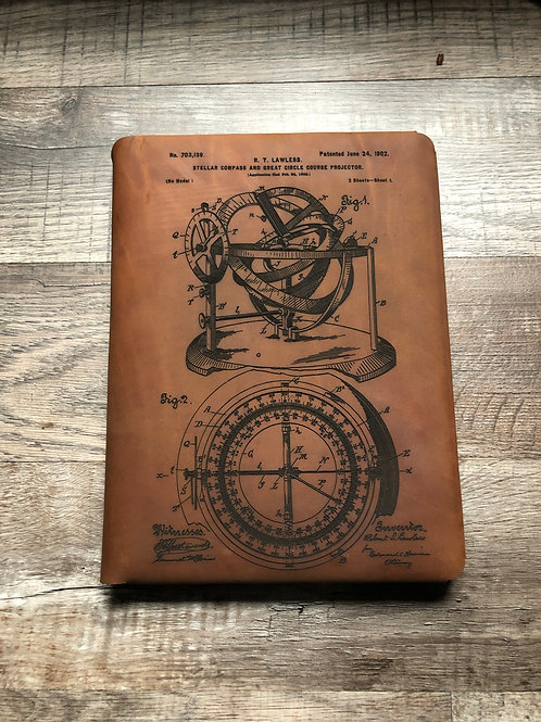 Compass Executive Cut - Refillable Leather Folio