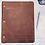 Thumbnail: Dumbledore Handwriting-Campfire Slim Cut - Refillable Leather Binder