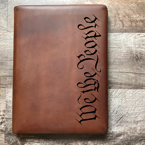 We The People Executive Cut - Refillable Leather Folio