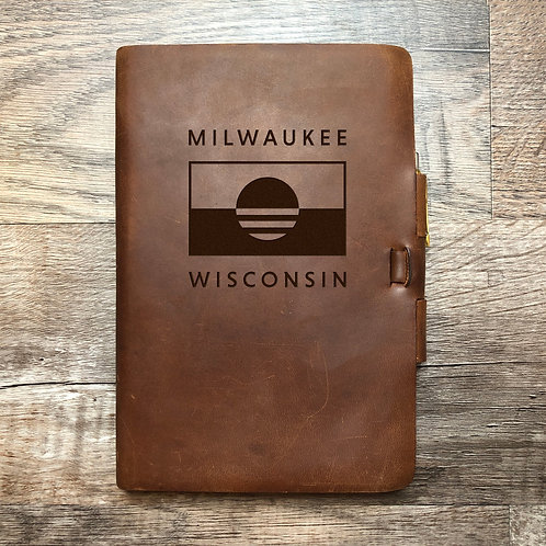 People's Flag of Milwaukee - Refillable Leather Journal