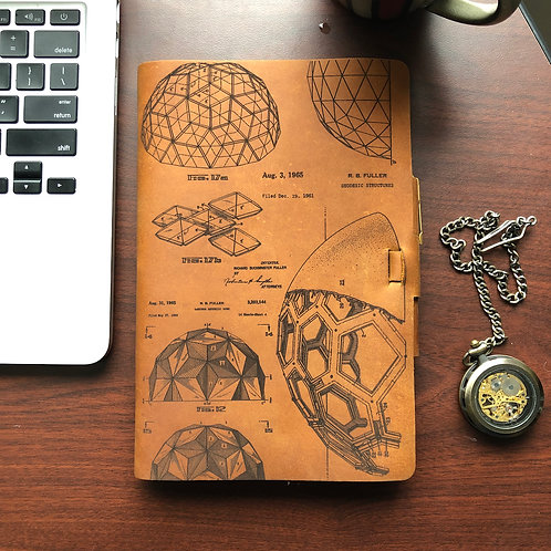 Geodesic - Refillable Leather Journal