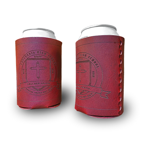 Set of 2 Custom CHS Leather Can Sleeves