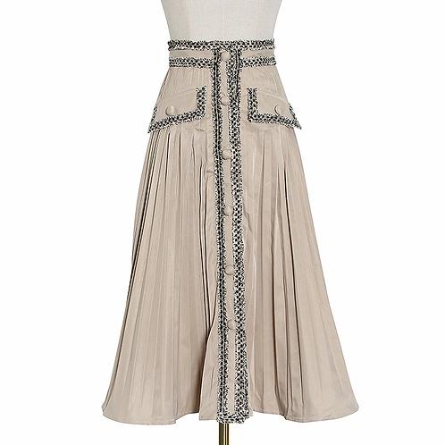 Ruched Patchwork Tassel Skirt