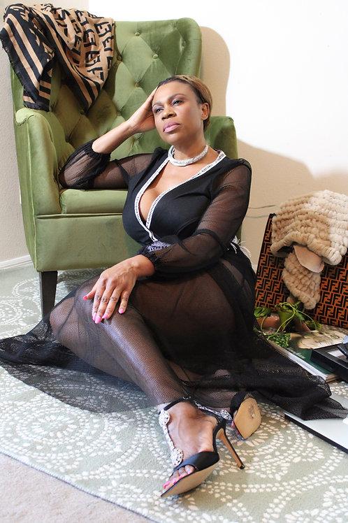 """""""Alphonsine"""" Sequins Fishnet Dress"""