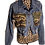 Thumbnail: Cropped Camo Patchwork Jean Jacket