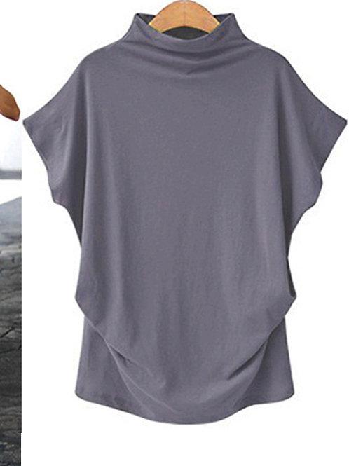 Mockneck Style T-shirt