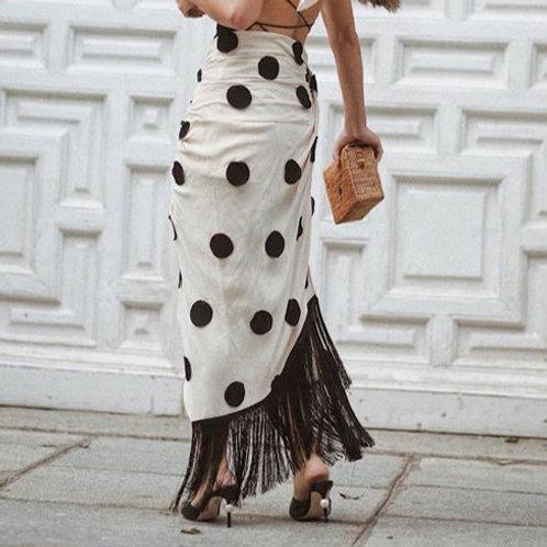 High Split Wrap Skirt