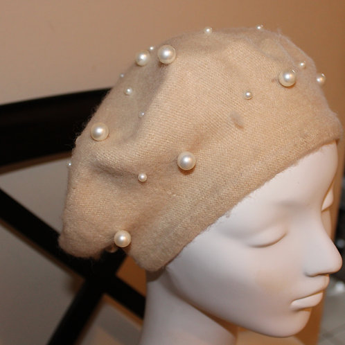 French Beret with pearls