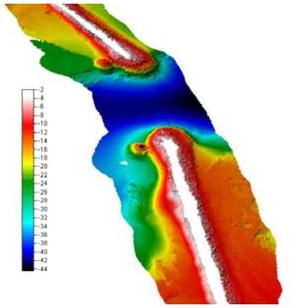 Morphobathymetric survey of main breakwaters, Augusta Port