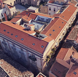 Restoration of ancient noble buildings in historical centre of Palermo