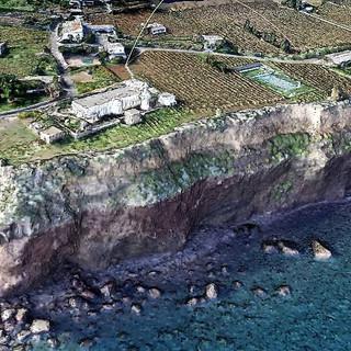 High coast consolidation in Capo Faro, Salina Island (ME)
