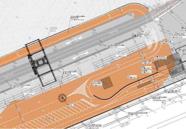 Intermodal node of freight terminal at Catania