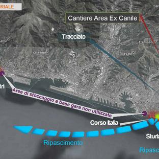 Bisagno river spillway tunnel - beach nourishment works (Genova)