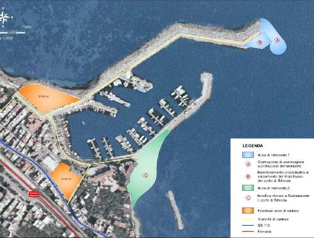 Environmental Impact Study for S.Nicola Marina enlargement project