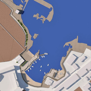 Berthings and facilities in Cala San Vito, Polignano a Mare (BA)