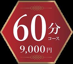 料金60分コース 9000円